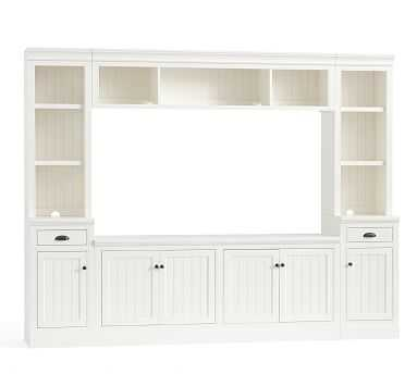"Aubrey 6-Piece Entertainment Center, Dutch White, 108"" - Pottery Barn"