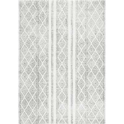 Sarina Diamonds Grey 8 ft. x 10 ft. Area Rug - Home Depot
