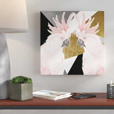 Cockatoo Deco - Picture Frame Graphic Art Print on Paper - AllModern