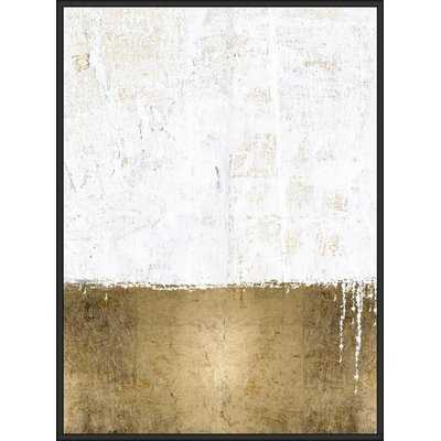 'White Gold Serenity' Framed Graphic Art Print on Canvas - Wayfair