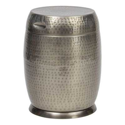 Bombay Outdoors Silver Madras Drum Patio Side Table - Home Depot