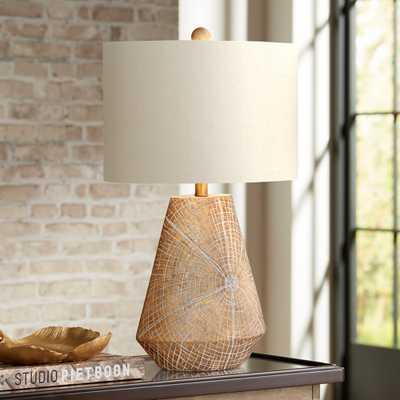 Webler Copper Faux Wood Table Lamp - Style # 55V09 - Lamps Plus
