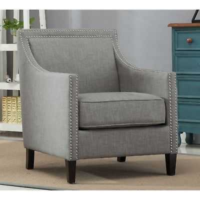Oliver & James Earnshaw Grey Accent Chair - eBay