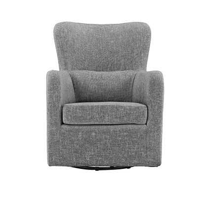 Bibbs Modern Linen Swivel Armchair - Wayfair