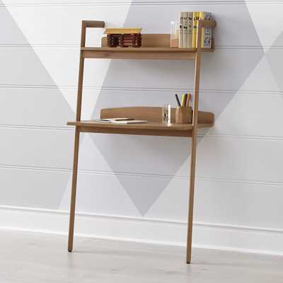 Addison Wood Leaning Desk - Crate and Barrel