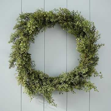 Faux Cypress Wreath - West Elm