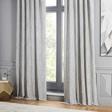 "Bomu Jacquard Curtain, Midnight, 48""x84"" - West Elm"