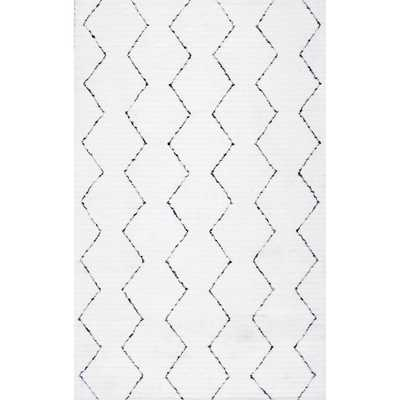 nuLOOM Sheilah White 9 ft. 6 in. x 13 ft. 6 in. Area Rug - Home Depot