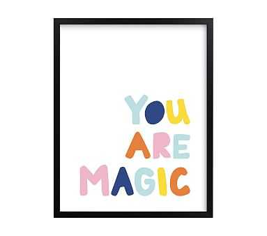 west elm x pbk You Are Magic Wall Art by Minted(R), Black, 11x14 - Pottery Barn Kids