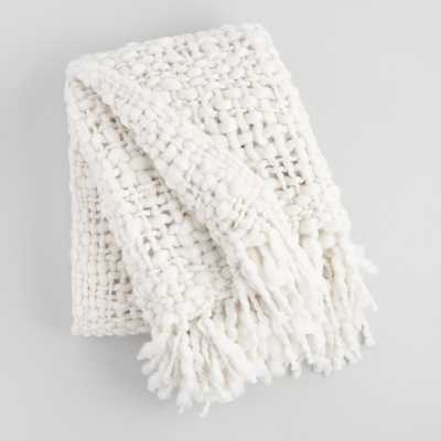 Ivory Chunky Knit Throw Blanket by World Market - World Market/Cost Plus