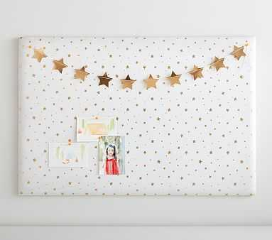 "No Nails Pinboards, Metallic Gold Star, 24x36"" - Pottery Barn Kids"