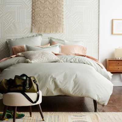 Marble Seafoam Twin Duvet Cover - Home Depot