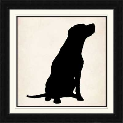"""28 1/4 in. x 28 1/4 in. """"Dog Silhouette"""" Framed Wall Art - Home Depot"""