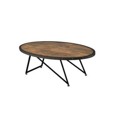 Allis Weathered Dark Oak Water Resistant Coffee Table - Home Depot