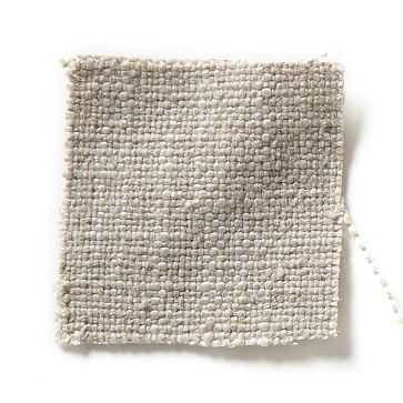 Upholstery Fabric By The Yard, Linen Weave, Natural - West Elm