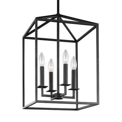 Sea Gull Lighting Perryton 15.5 in. W. 4-Light Blacksmith Hall-Foyer Pendant - Home Depot