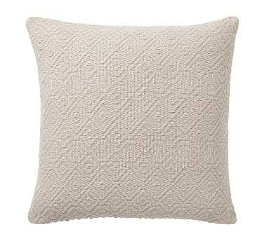 """Washed Diamond Pillow Cover, 20"""", Flax - Pottery Barn"""
