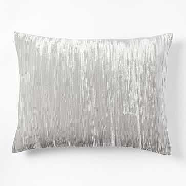 Crinkle Velvet Standard Sham, Platinum - West Elm