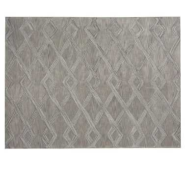 Chase Tufted Rug, 9x12', Gray - Pottery Barn