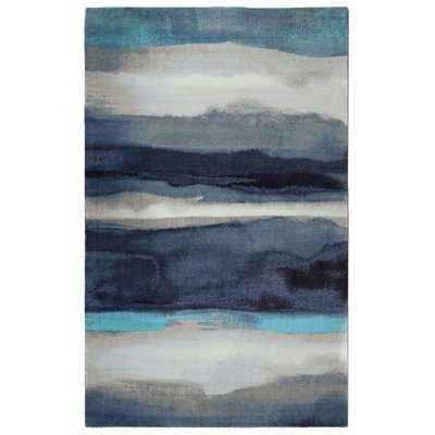 Labombard Canvas Contemporary Modern Blue/Gray Area Rug - Wayfair