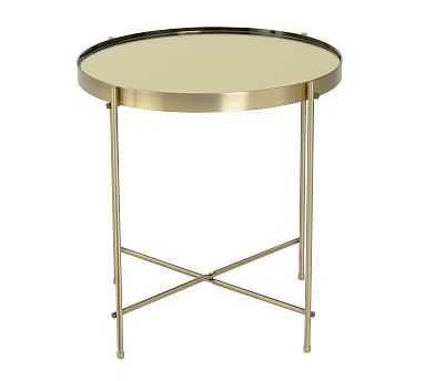 Keenan Side Table, Brass - Pottery Barn