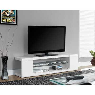 Glossy White Entertainment Center, High Glossy White - Home Depot