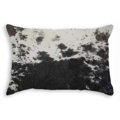 natural Torino S and P / Black and White 12 in. x 20 in. Cowhide Pillow, S&p/Black & White - Home Depot