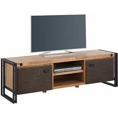 Scandinavian Living Katashi Acacia Wood and Metal 2-Door TV-Lowboard - eBay
