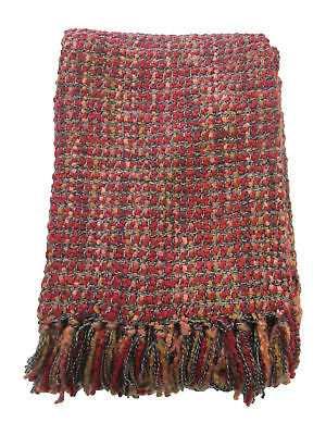 August Grove Judith Woven Throw Blanket: Red - eBay