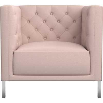 Savile Blush Tufted Chair - CB2
