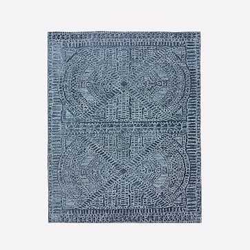 Maze Rug, Shadow Blue, 8'x10' - West Elm