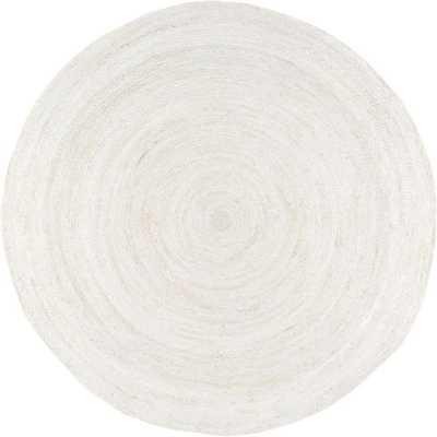 Rigo Jute White 4 ft. x 4 ft. Round Area Rug - Home Depot