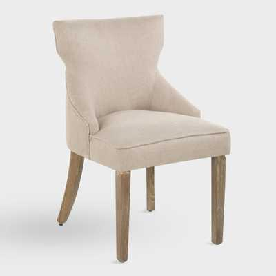 Natural Landon Upholstered Dining Chairs Set of 2 by World Market - World Market/Cost Plus