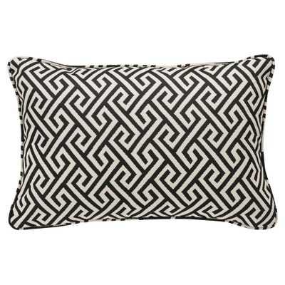 Eichholtz Modern Classic Dudley Black White Maze Rectangular Pillow - 18x24 - Kathy Kuo Home