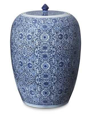 Blue & White Floral Ginger Jar, Tall - Williams Sonoma