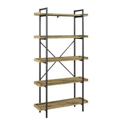 Urban 68 in. Barnwood Pipe Bookcase - Home Depot
