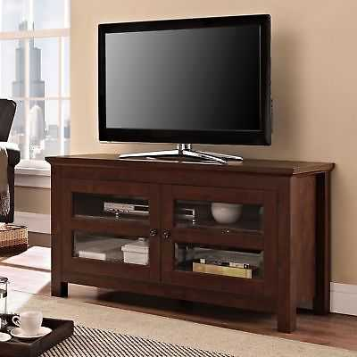 Clay Alder Home Hardy 44-inch Brown Wood TV Stand - eBay