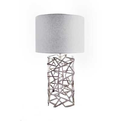 Watch Hill Lighting Lattice Mesh 25 in. Silver Table Lamp - Home Depot