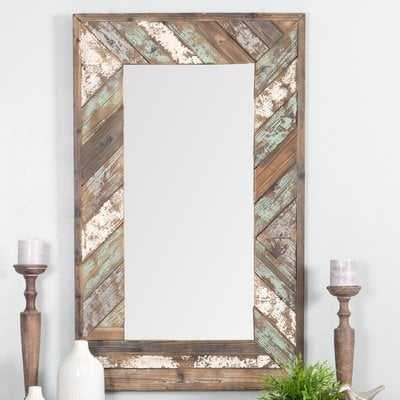 Yorktown Distressed Wood Slat Wall Mirror - Wayfair