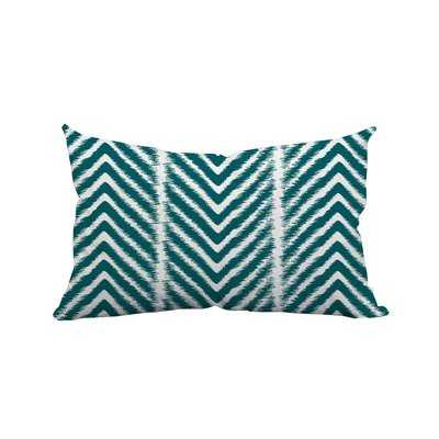 "Prestridge Zebra Chevron Print Indoor/Outdoor Lumbar Pillow // 14""x20"" // Insert Included - Wayfair"