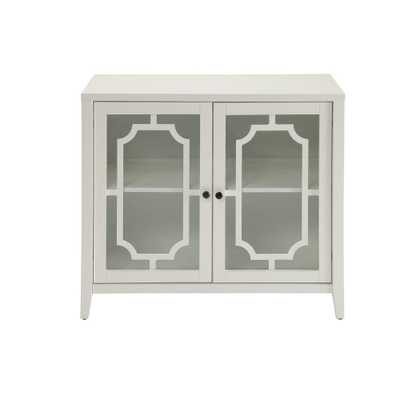 Ceara White Cabinet - Home Depot