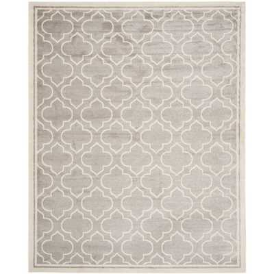 Amherst Light Gray/Ivory 8 ft. x 10 ft. Indoor/Outdoor Area Rug - Home Depot