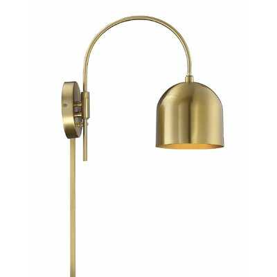 Mary 1-Light Plug-In Armed Sconce - AllModern