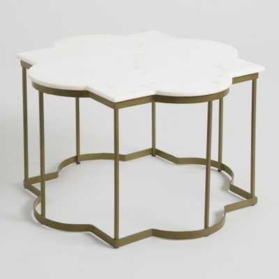 White Marble Arabesque Coffee Table by World Market - World Market/Cost Plus