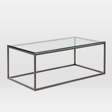 Box Frame Coffee Table, Glass - West Elm
