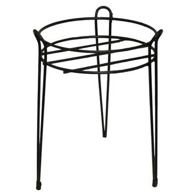 15 in. Black Basic Metal Plant Stand - Home Depot