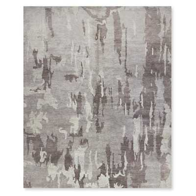Multi Color Marble Rug, 9x12', Gray - Williams Sonoma