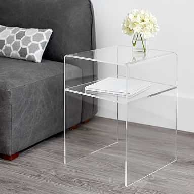 Acrylic Bedside Table, UPS - Pottery Barn Teen