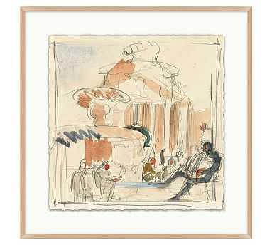 "Piazza Sketch Framed Print 2, 25 x 25"" - Pottery Barn"