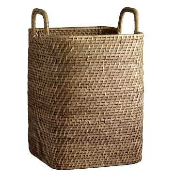 Modern Weave Handled Basket, Natural - West Elm